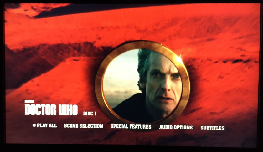 Doctor Who Series 9 Steelbook Blu-Ray - Main Menu screenshot showing the Doctor