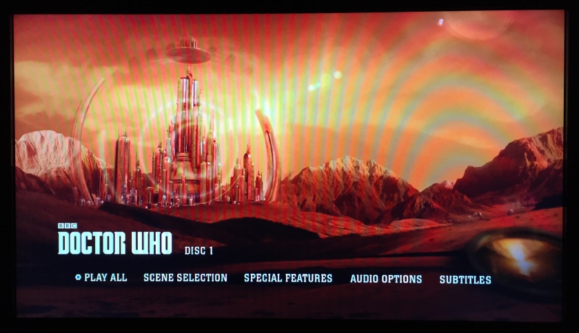 Doctor Who Series 9 Steelbook Blu-Ray - Main Menu screenshot showing Gallifrey