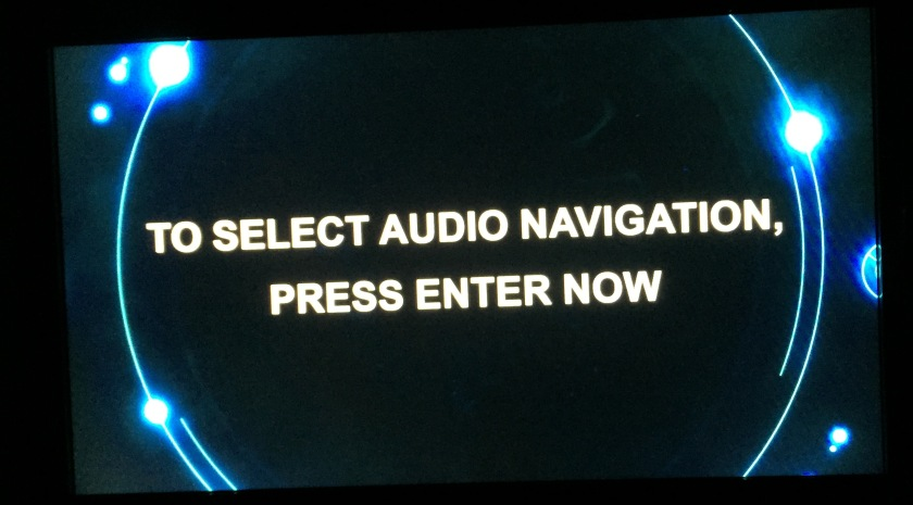 Doctor Who DVD Audio Menu Screen - To select audio navigation, press Enter now