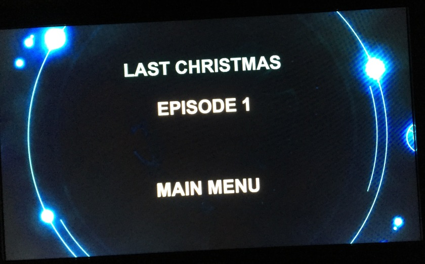 Doctor Who DVD Audio Menu Screen - Episode Menu, showing Last Christmas and Episode 1