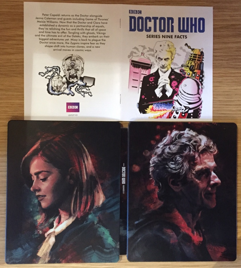 Doctor Who Series 9 Steelbook Blu-Ray - Outer Cover and Booklet