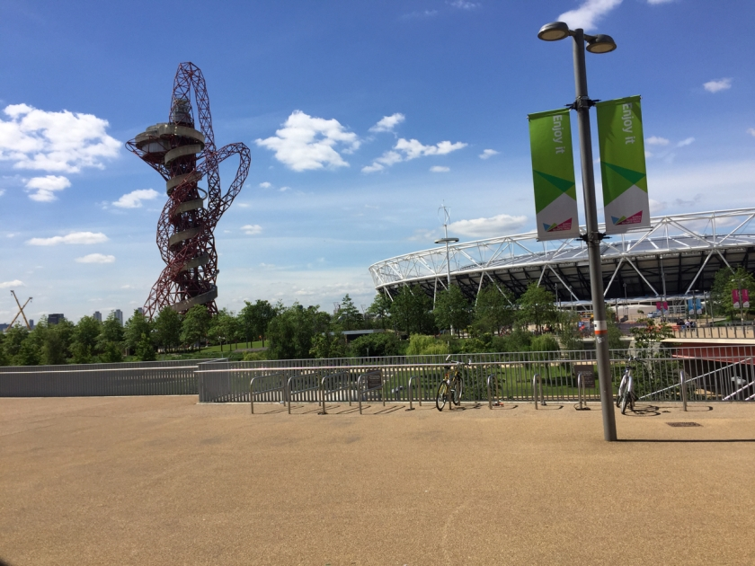 The Orbit Tower and Olympic Stadium, at the Olympic Park in London