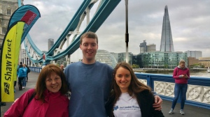 Me with Carol from Metro Blind Sport and Nicola from East London Vision on Tower Bridge.