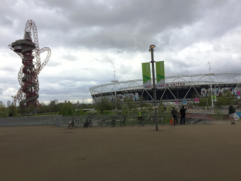 Orbit Tower and West Ham Stadium at Olympic Park