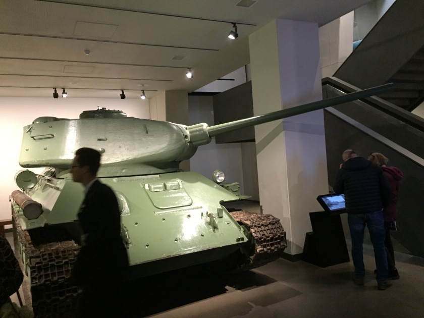 Large green T-34 tank