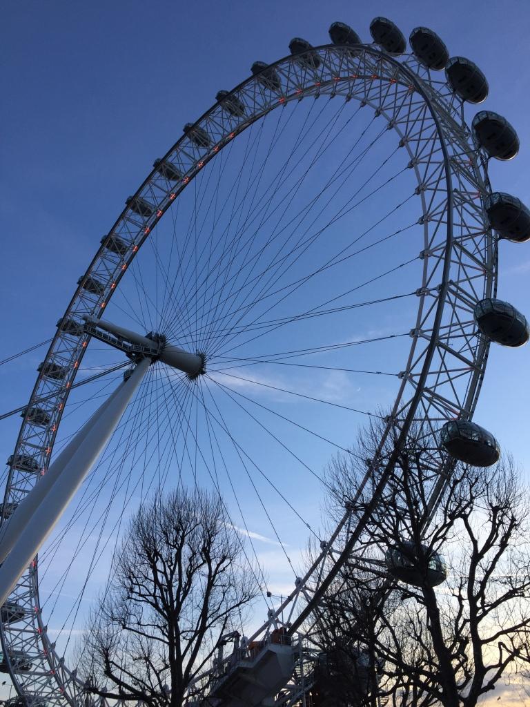 The huge ferris wheel that is the London Eye