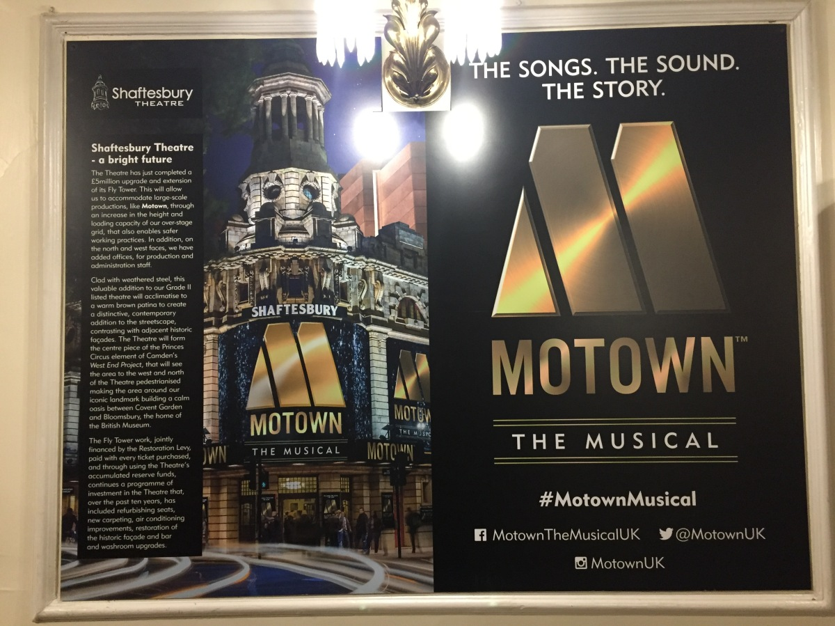 Poster for Motown The Musical, with the tagline The Songs, The Sound, The Story
