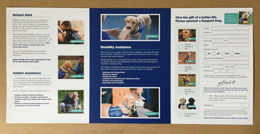 Support Dogs leaflet