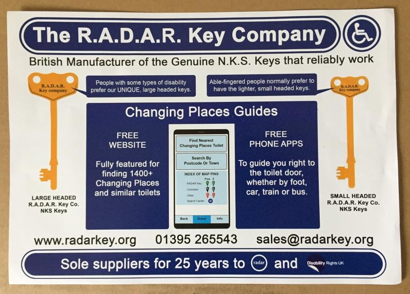 Radar Key Company leaflet
