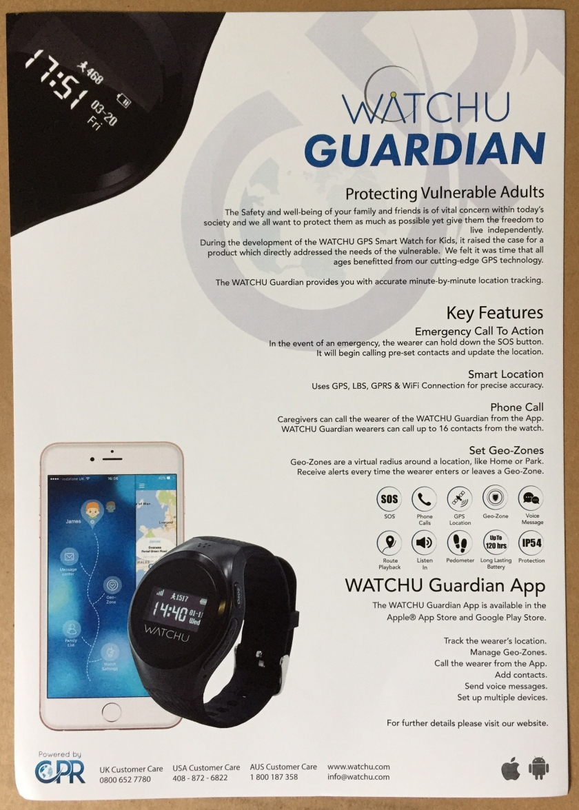 CPR Technology Watch U Guardian leaflet