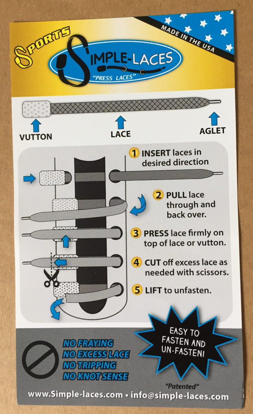 Simple Laces leaflet, demonstrating how they fasten
