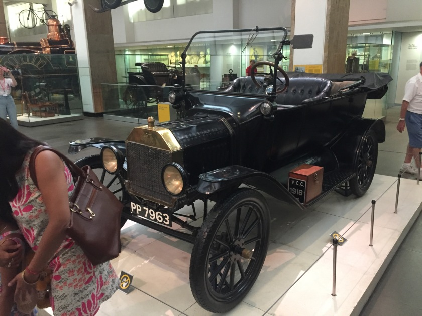 A black Ford Model T car with the registration PP 7963.