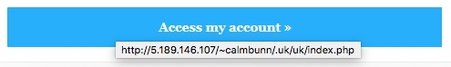 Screenshot of link address in iTunes scam email.