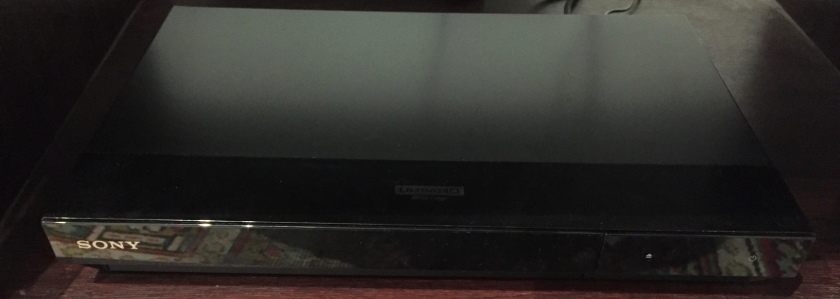Sony Blu-Ray Player, slim in size and black in colour.