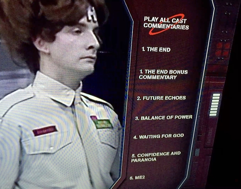 Red Dwarf 1 Blu-Ray Commentaries Menu