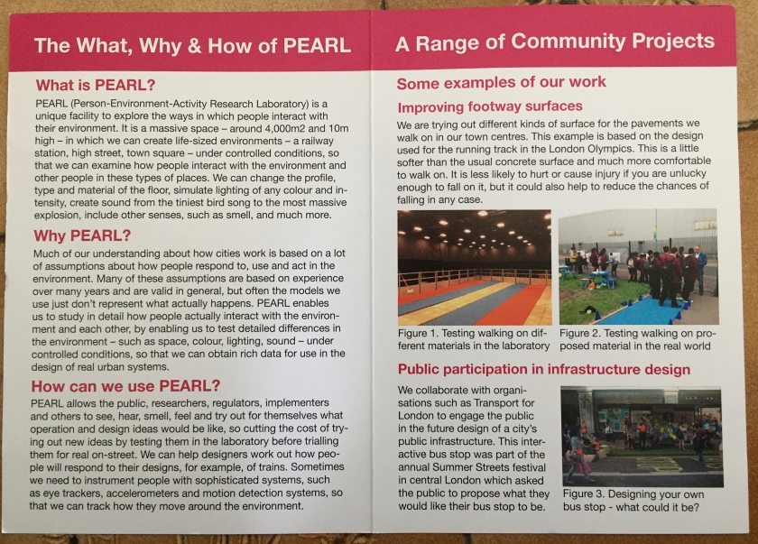 Leaflet about the Pearl project at University College London.