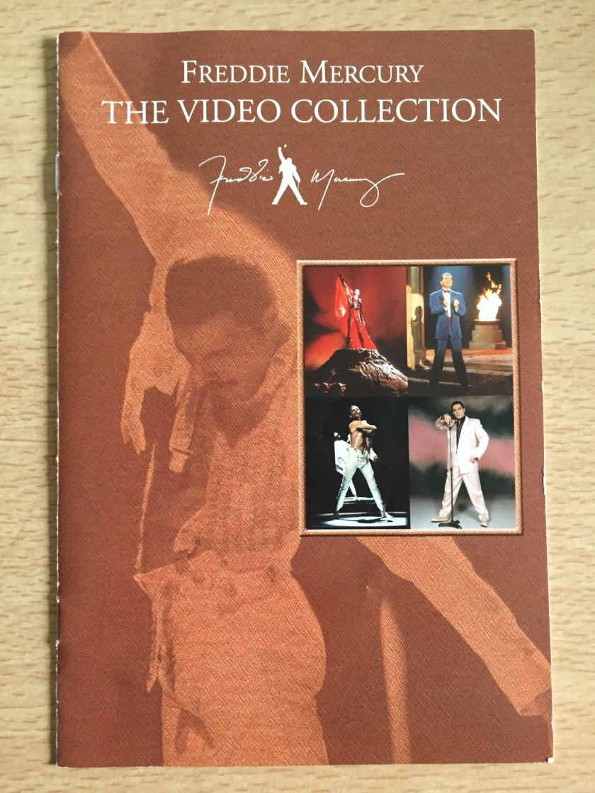 Cover for the standalone DVD release of Freddie Mercury, The Video Collection, featuring photos from a few of the videos.