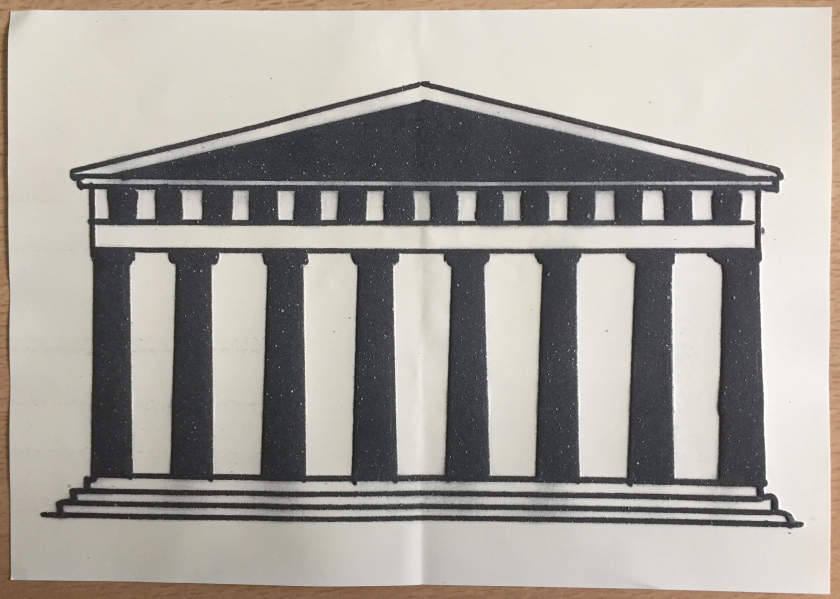 Parthenon Exterior - Tactile Drawing