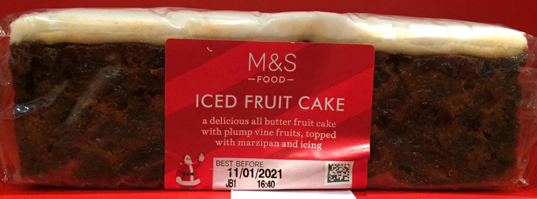 Marks & Spencer Iced Fruit Cake bar