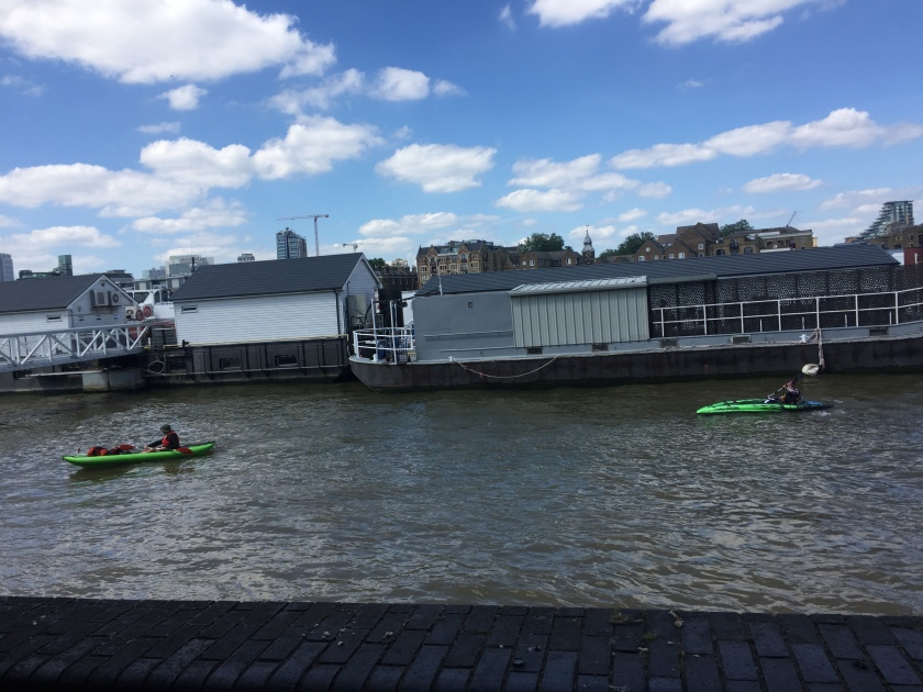 People kayaking on the Thames